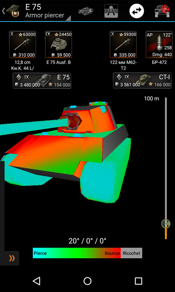 Virtual armor piercer one tank by another. Knowledge base for World of Tanks